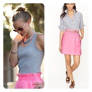 J Crew Pink Linen A-line Skirt Size 4